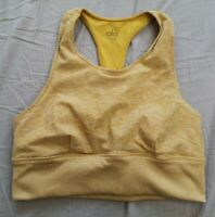 Alo Yoga Women's Yellow Alosoft Serenity Sports Bra Size M Medium - Good Used