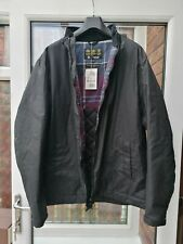 BNWT Mens Barbour Barnby Waxed Quilted Jacket Black XXL rrp£199