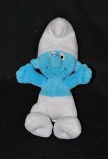Peluche doudou schtroumpf FERRERO SPA ALBA Peyo bleu blanc 21 Cm TTBE