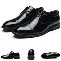 British Mens Dress Formal Business Shoes Pointy Toe Work Office Lace up Casual D