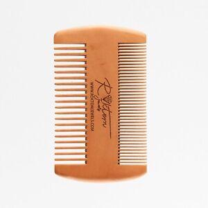 Antistatic Gentleman FineTeeth Beard Moustache Grooming Handmade Sandalwood Comb