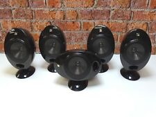 Set Of 5 KEF KHT 2001.3 Gloss Black Home Cinema Surround Sound Loud Speakers