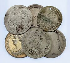 (1711-1816) Great Britain & (1689-1698) Austria Ex-Jewelry 6-Coin Lot