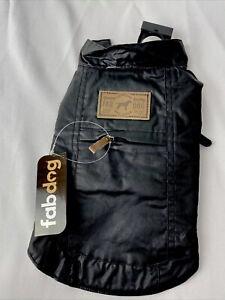 """Fabdog Dog Coat - Waxed Utility Raincoat -  Brand new - Black - Size 10"""""""