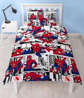 Marvel Spiderman Metropolis White Reversible Single Duvet Cover Bedding Set