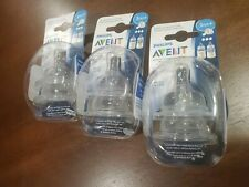 Lot of 6 Philips Avent 3M+ Classic+ Plus Medium Flow Anti...