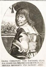C1640 Taupadel Georg Christoph de Erfurt Cham chef de guerre cuivre Pli-Portrait