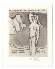 RUDOLF KOCH: Eigen- Exlibris,  14. intern. Exlibris Kongress Helsingör 1972