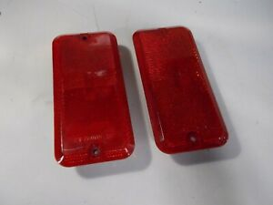 2× NOS 85-95 GMC OEM Chevy Van G10 G20 G30 RED Rear Side Marker L R Light Lens