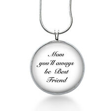 Mom Pendant Necklace, Best Friend, Love Mom Pendant, fashion jewelry, gifts