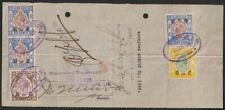 Hong Kong 1928 KGV Revenue BofE 20c 30c 50c Used Yokohama Bank Bill of Exchange