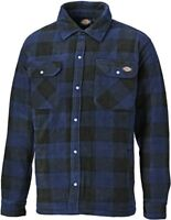 Dickies Portland Padded Work Shirt Lumberjack Casual Shirt Royal Blue Size S-4XL