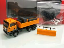 Herpa 307772 MAN TGS M Dreiseitenkipper Winterdienst 3-achs orange in OVP