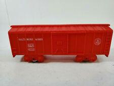 Vintage Marx Plastic Box Train Car Baltimore & Ohio B&O Railroad Toy Red