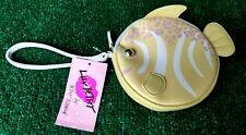 NEW LUV BETSEY BETSEY JOHNSON YELLOW TROPICAL FISH WRISTLET COIN PURSE NEW