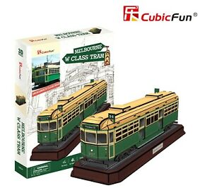 Melbourne W Class Tram 73pcs 3D Model DIY Puzzle Hobby Building Kit Build Toy