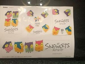 NAGANO JAPAN 1998 WINTER OLYMPICS RARE STICKERS. Snowlets Owls