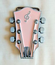 Fun Buckles -  Pink Guitar Head Belt Buckle