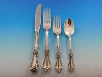 Royal Rose by Wallace Sterling Silver Flatware Set for 8 Service 36 pieces