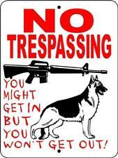 1717 GERMAN SHEPHERD DOG SIGN,9 X 12 ALUMINUM SIGN,SECURITY,WARNING,
