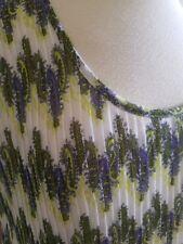 ESSENTIALS By MILANO Women Summer Dress Green Ruffles Lined  Size 12 EUC