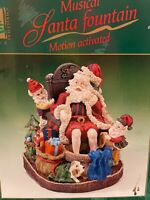Rare & Vintage Christmas Musical Santa Fountain Hand Painted - Plays 8 Songs