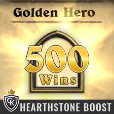 500 Siege 500 Wins Hearthstone Golden Hero Goldener Held Ranked