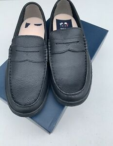 COLE HAAN 1928 Mens US 10 M Casual Black Pebble Leather Soft Loafer Shoes