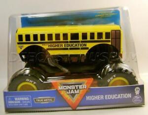 HIGHER EDUCATION SCHOOL BUS MONSTER JAM TRUCK 1/24 SCALE DIECAST HOT WHEELS