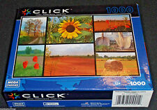 Click Puzzle GARDEN COLLAGE 1000 pcs NEW Sealed Sunflower