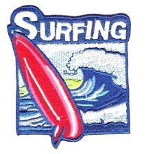 Surfing Outdoors Patch Iron Sew On Beach Applique Surfer Ocean