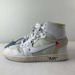 Nike Air Jordan 1 OG Off White Men US 12 Sneaker Hi Top Shoe AQ0818-100