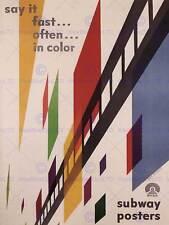 Annuncio Metropolitana colore USA Grande Poster Art Print bb2166a