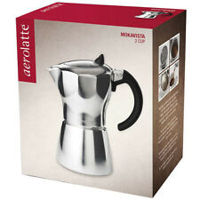 Aerolatte MokaVista Moka Pot Stove Top Espresso Maker - 3 Cup/ 165ml