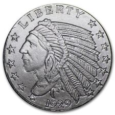 1/10 OZ 999 ARGENTO USA incuse Indian Head indiani 1929 Silver round