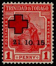 Trinidad & Tobago 1915 Red Cross, Narrow 2 Variety, (Not Listed)