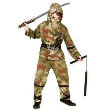 Zombie Ninja Halloween Horror Fighter Kids Childs Boys Fancy Dress Costume
