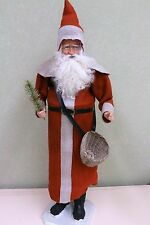 Red Santa with Basket by Two Sisters Studios NEW Christmas Candy Container