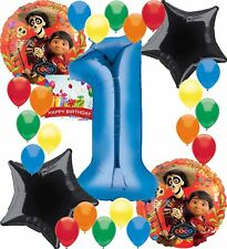 Coco Birthday Party Supplies Number Balloon Decoration Bundle (1st Birthday)
