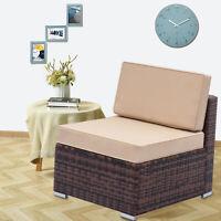 Outdoor Patio PE Rattan Wicker Sofa Sectional Cushioned Garden Furniture Seat
