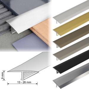 Aluminium Threshold Trim T Bar Door Profile Transition Trim Tiles Lamina 1m Long