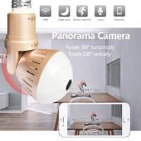 1080P HD 360 Panoramic Hidden Wifi IP Camera Light Bulb Home Security Lamp Cam