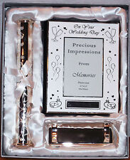 PRECIOUS IMPRESSIONS FROM MEMORIES SILVERPLATE KEEPSAKE WEDDING GIFT SET NIB