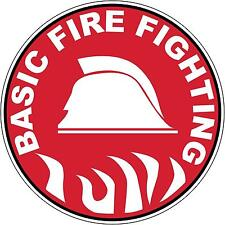 Hard Hat Basic Fire Fighting Sticker Sign Decal 50mm Public Safety WHS OHS