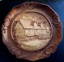 Stratford Upon Avon England Souvenir Wall Plaque - Wood Look Resin