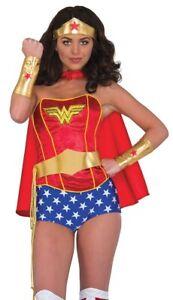 Wonder Woman Wonderwoman Adult Costume Accessory Kit NEW Tiara Gaunlets Belt