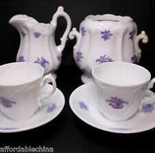 Adderley Staffordshire Grandmother's China Chelsea Sprig 6 Piece Set Creamer Cup