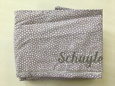"""Pottery Barn Teen Purple Dots With Name """"Schuyler"""" Twin Sheet Set Brand New"""