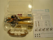 Crop  A Dile~Anna Griffin Gold~Grommets and Tool~Case~We R Memory Keepers