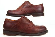 JOHNSTON & MURPHY Size 8.5 W Brown Handcrafted Leather Oxfords Sn: 20-1649